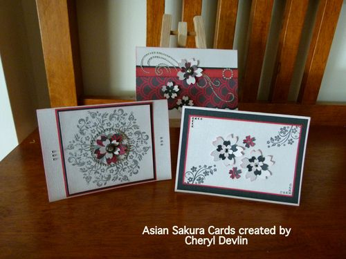 Asian Sakura Cards
