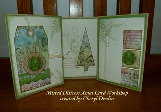 Misted Distress Xmas Cards